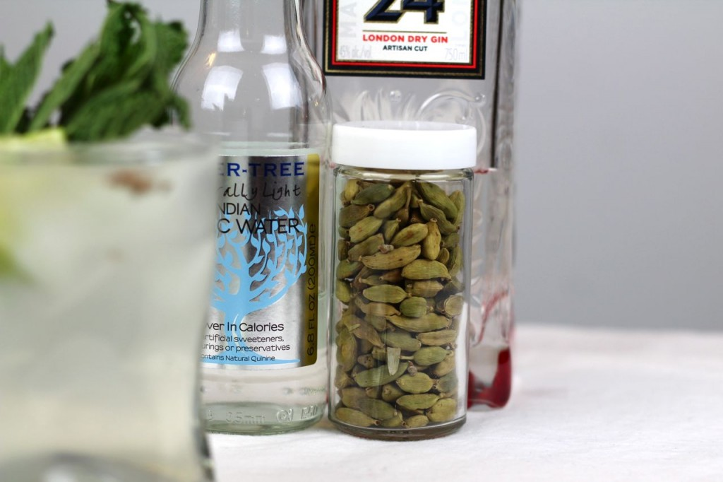 Beefeater 24 gin, Fever-Tree tonic water, cardamom pods