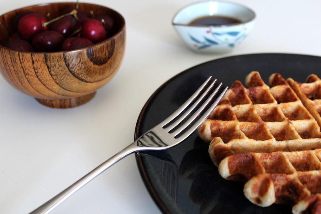 banana coconut waffles
