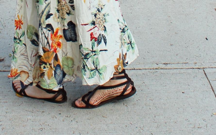 henna italian leather sandals