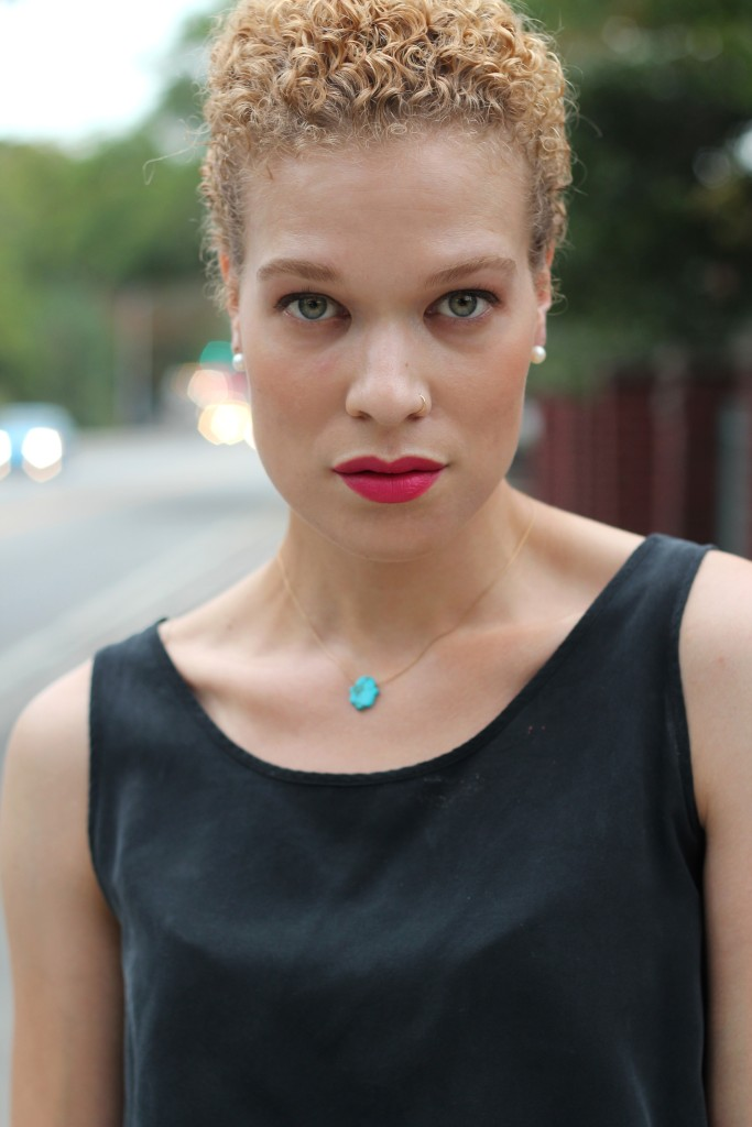 pearls, hamsa necklace, Givenchy fuchsia irresitible lipstick