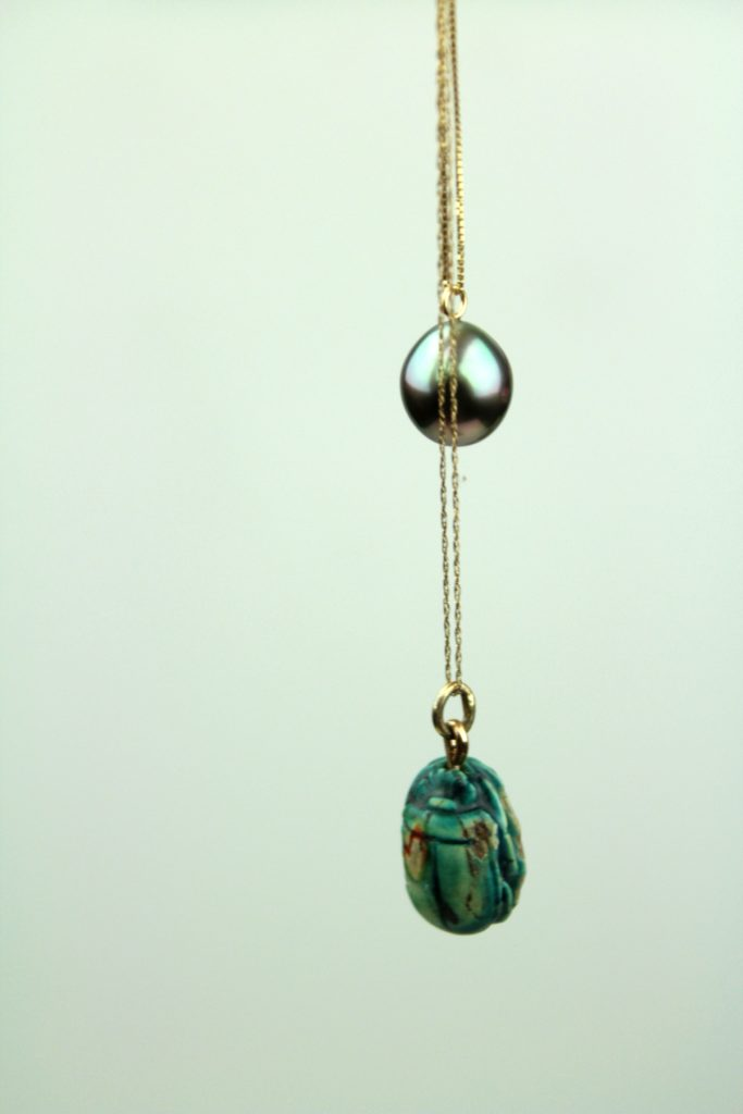 tahitian pearl pendant and scarab theseventhsphinx